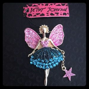 Beautiful Betsey Johnson Swivel-Leg Fairy Pin